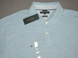 NEW! Men's Tommy Hilfiger Light Blue Pique Cotton Polo Shirt
