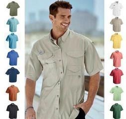 New Men's Columbia PFG Bonehead Vented Fishing Shirt Short S