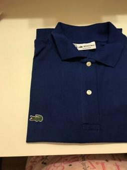 NEW Lacoste Men's Polo Shirt in Blue Size 5  Regular Fit