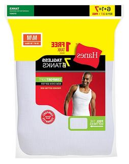 *NEW* Hanes Mens 7-Pack White A-Shirt/Tanks Tank Top Undersh