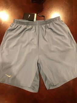 NEW NIKE MENS Distance Running Shorts with back zipper pouch