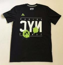 NEW Mens adidas Go To Performance Tee NYC Tennis Black Clima