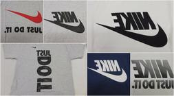 New Nike Mens Just Do It Logo Graphic Crewneck Regular Fit T