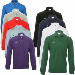 NEW MENS LACOSTE LONG SLEEVE CLASSIC FIT COTTON PIQUE POLO G