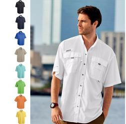 NEW COLUMBIA Mens PFG Bahama II Short Sleeve Vented Fishing