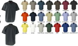 NEW Mens Short Sleeve DARK Colors Uniform WORK SHIRT Red Kap