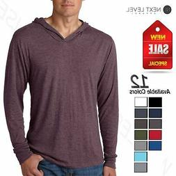 NEW Next Level Premiun Men's Triblend Long Sleeve T-Shirt Ho