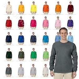 Fruit Of The Loom Mens Long Sleeve T-Shirt Heavy Cotton Tee
