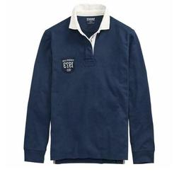 NWT Timberland Men's Slim Fit Logo Badge Rugby Long Sleeve P