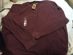 NWT Mens FOUNDRY Big & Tall 4XL Thermal Knit HENLEY SHIRT $4