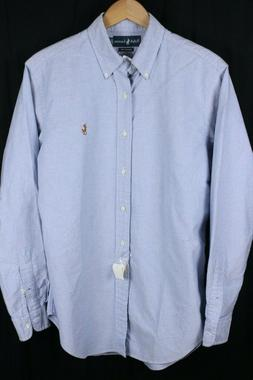 NWT Ralph Lauren Mens Shirt Large Light Blue Oxford Classic