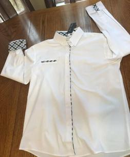 NWT TOM'S WARE mens size XL white collared button up dress s