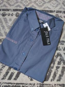 nwt toms ware blue long sleeve shirt