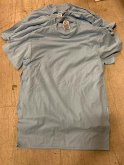 Pack Of 6 Mens Delta Pro Weight Cotton T Shirts Sky Blue Siz