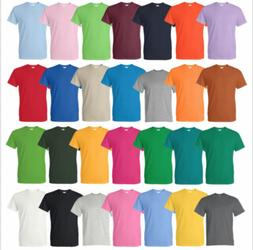 Gildan Cotton T-Shirts 5.3oz Blank Solid Short Sleeve Tee S-