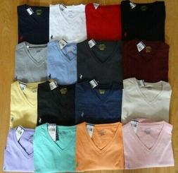 polo mens v neck t tee shirt