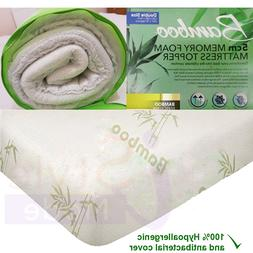 Quality Bamboo Memory Foam Mattress Topper Size Available Si