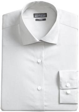 Kenneth Cole Reaction Slim Fit Dress Shirt 16 X 32-33, White