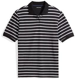 Amazon Essentials Men's Regular-Fit Striped Cotton Pique Pol