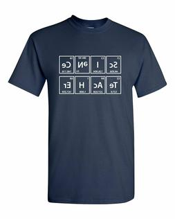 Science Teacher Elements Periodic Funny Humor Pun Men Adult