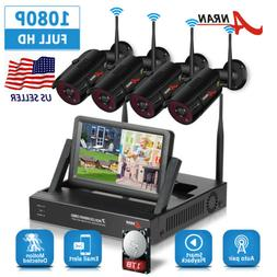 ANRAN Security Camera System Wireless 4CH Outdoor 1TB Hard D