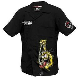 Lethal Threat Shifter Monster Short Sleeve Button Up Mens Mo