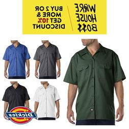 DICKIES SHIRT 1574 MENS SHORT SLEEVE WORK SHIRT BUTTON FRONT