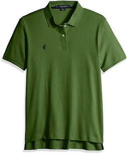 U.S. Polo Assn. Men's Solid Interlock Polo Shirt, Forested,