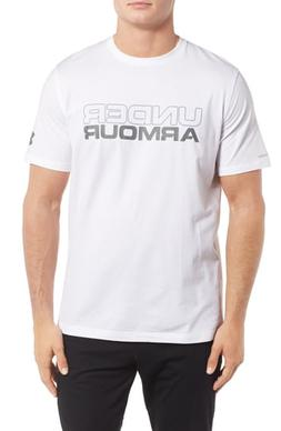 Men's Under Armour Stacked Wordmark T-Shirt, Size Large - Wh