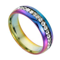 Shusuen ☜ Stainless Steel for Men and Women Fashion Couple