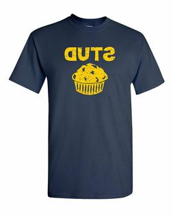 Stud Muffin Funny Workout Cupcake Funny Humor Pun Men Adult