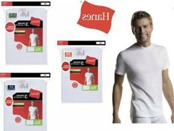 Hanes Tag Less Crew Neck T-Shirts 3-Pack Mens 100% Cotton Bl