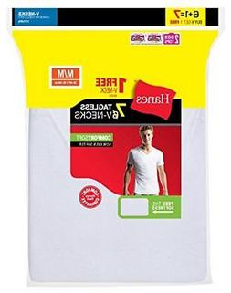 Hanes Men's 7-Pack Comfortsoft Tagless V-Neck T-Shirt , Whit