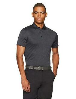 Amazon Essentials Men's Tech Stretch Polo Shirt, Black Hea