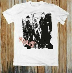 The Clash Punk Rock Band Retro Concert Cotton White T-Shirt