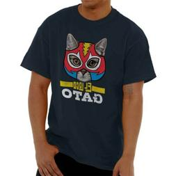 The Crazy Cat Funny Mexican Wrestler Pet Owner Novelty T Shi