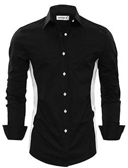 Tom's Ware Mens Stylish Two Toned Button Down Shirt TWNMS351