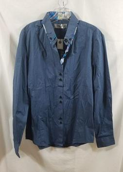 Tom's Ware NEW Button Front Long Sleeve Shirt Mens Size M