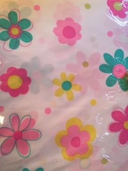 TWIN SHEET SET PINK GIRL'S LARGE FLOWERS COLORFUL NEW 3 PC N