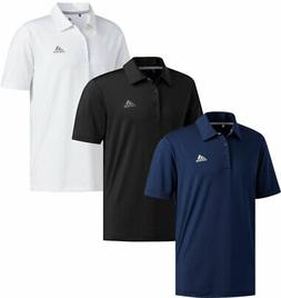 Adidas Ultimate365 Solid Crestable Polo Golf Shirt Logo Left