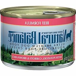Natural Balance Ultra Premium Canned Dog Food, Beef Formula,