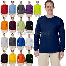 Gildan Ultra Cotton Mens Crewneck Long Sleeve T-Shirt S-5XL