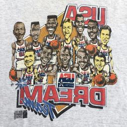 Vintage 90s USA DREAM TEAM T-Shirt Reprint For Men Size S to