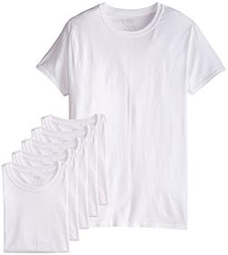 Fruit of the Loom Mens 6Pack White Crew-Neck Undershirts Cot