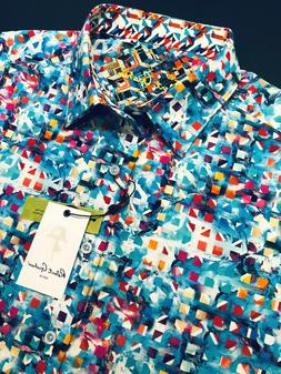 Robert Graham XL Shirt Mens Espinal Geometric Blue Multi Col