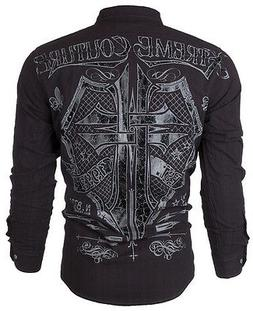 XTREME COUTURE by AFFLICTION Mens L/S BUTTON DOWN Shirt RATT