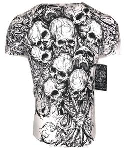 XTREME COUTURE by AFFLICTION Men T-Shirt THE ACCUSER Skull B
